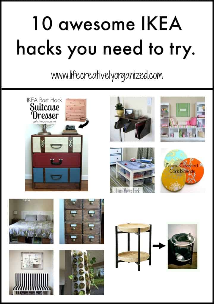 10 awesome ikea hacks you need to try life creatively organized. Black Bedroom Furniture Sets. Home Design Ideas