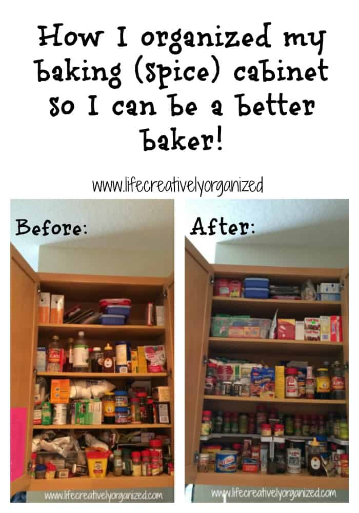 How I Organized My Baking And Spice Cabinet Life