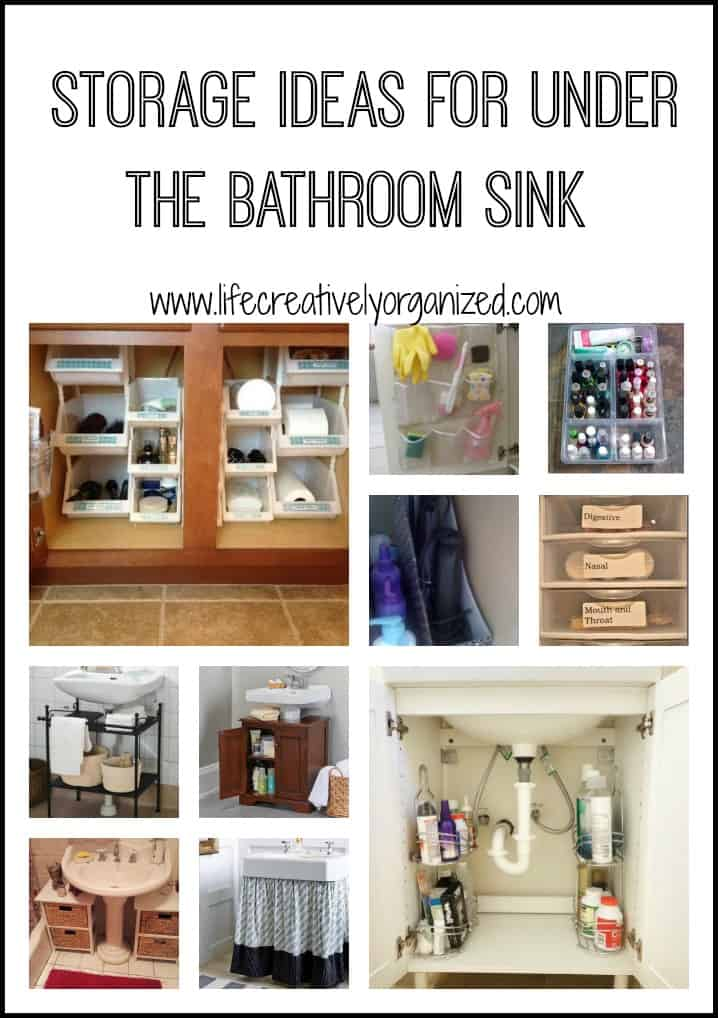 Organize the space under the bathroom sink life for Ideas for your bathroom