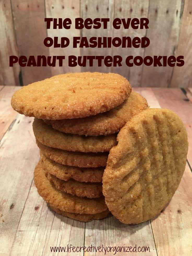 Recipes For Old Fashioned Peanut Butter Cookies
