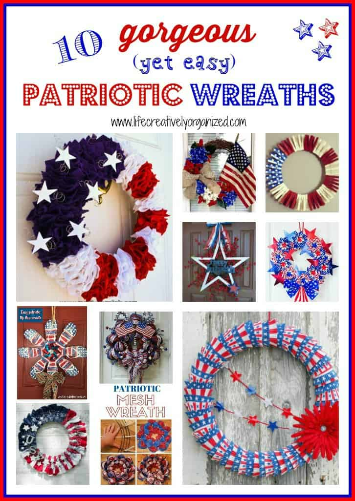 Gorgeous Easy Makeup Tutorials For Brown Eyes: 10 Gorgeous Yet Easy Patriotic Wreaths