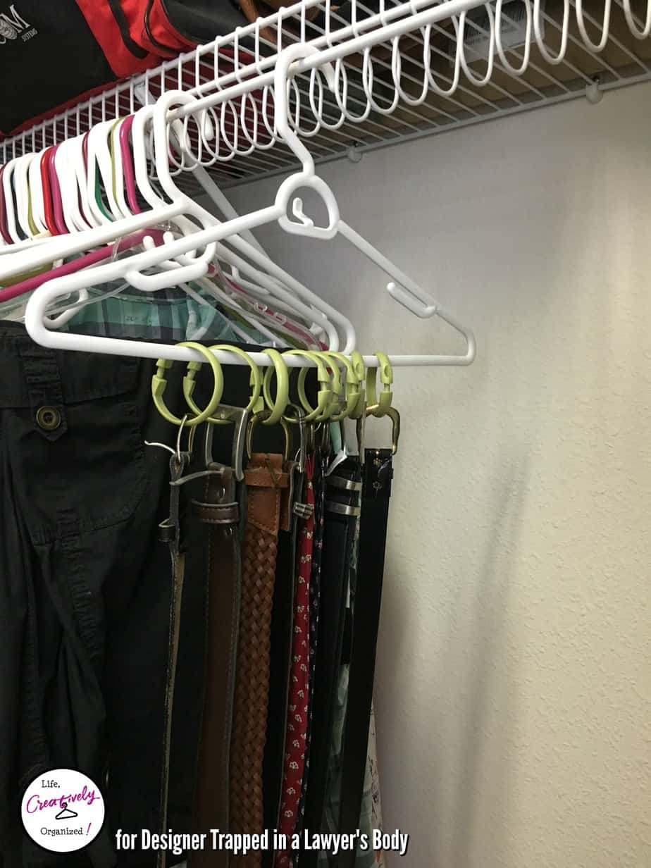 belts - shower curtain rings
