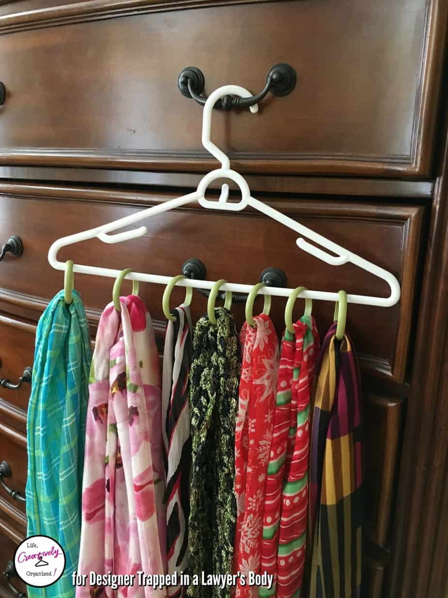 scarves - shower curtain rings